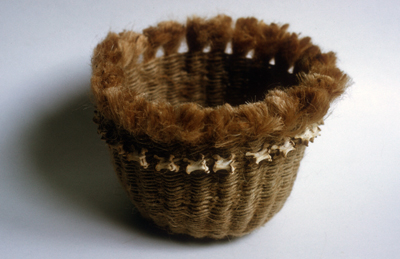 basket with bones