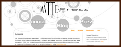Matter Press ~ The Journal of Compressed Creative Arts