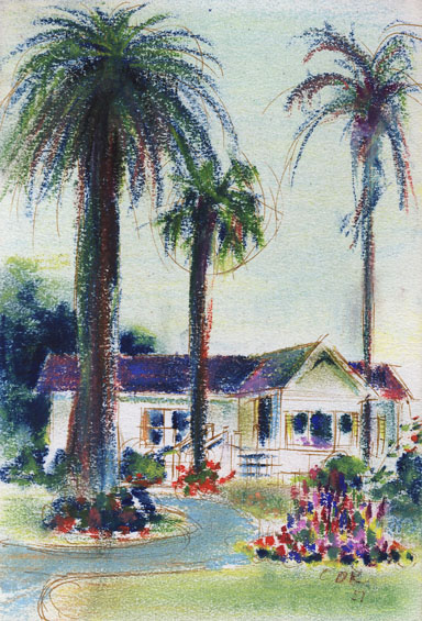 pastel drawing by D.A. Kleinberg