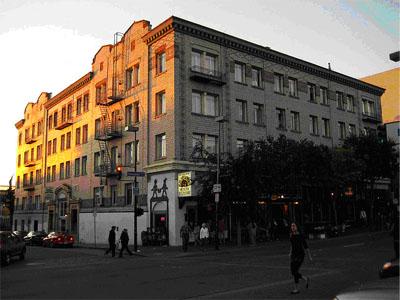Sequoia Apartments and Mario's La Fiesta, Telegraph and Haste, Berkeley