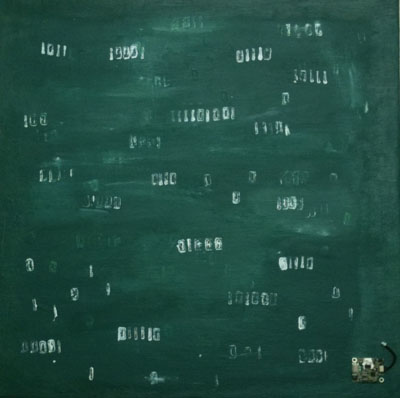 Binary Chalkboard by Ruki Oygar