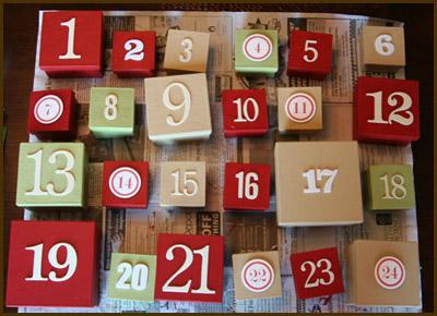 advent calendar by Ali Edwards