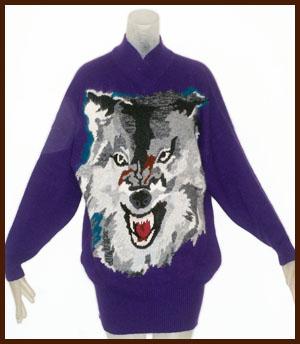 vintage Krizia wolf sweater
