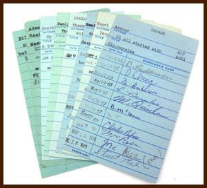 library checkout cards