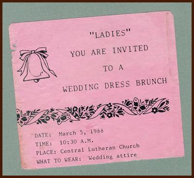 wedding dress brunch