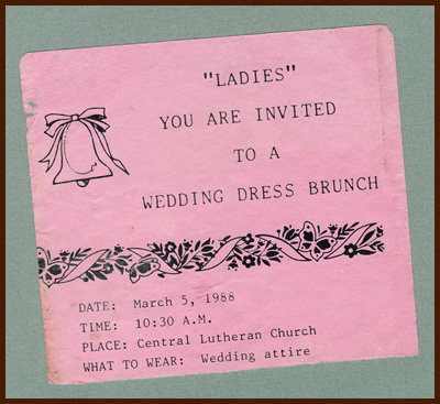 wedding dress brunch