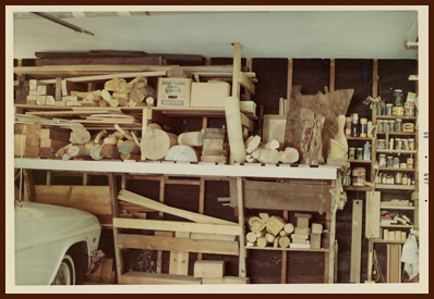 my father's workshop ~ the wood shelves