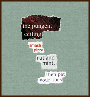 found poem by j.i. kleinberg ~ the pungent ceiling