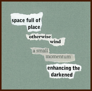 found poem by j.i. kleinberg ~ space full of place
