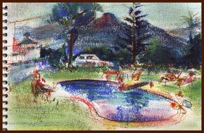 pastel sketch by DAK, 1951