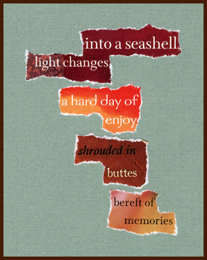 found poem by j.i. kleinberg ~ into a seashell