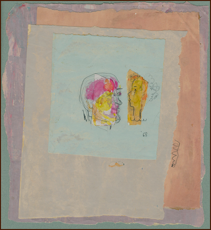 collage by DAK, 1968