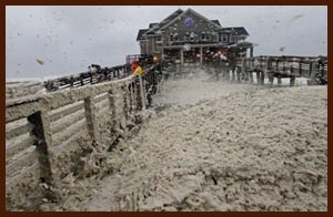 sea foam at Nags Head, N.C. Photo: Gerry Broome / AP