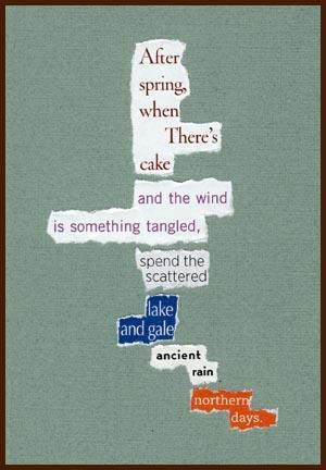 found poem © j.i. kleinberg ~ After spring