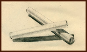 cigarette drawing by Dorothy