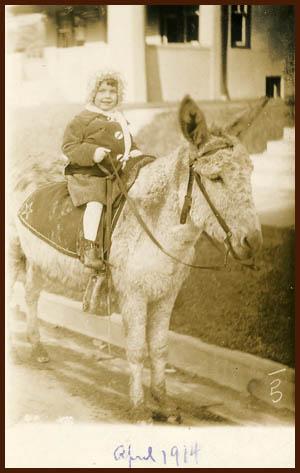 1914 - D on burro