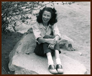 Dorothy in saddle shoes, 1947