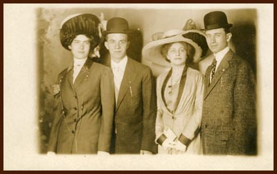 Elsie and Jake plus two unknown -- postcard