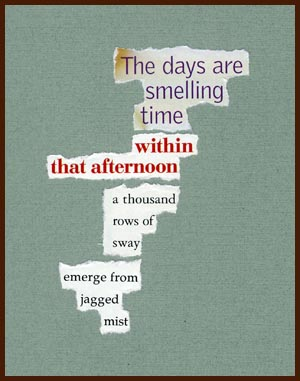 found poem © j.i. kleinberg ~ The days