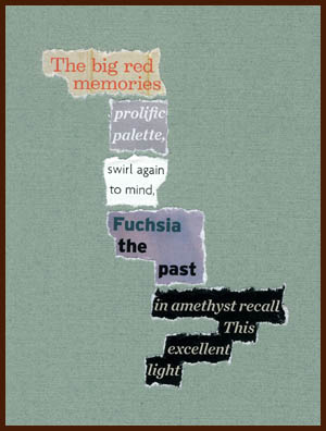 found poem © j.i. kleinberg ~ The big red