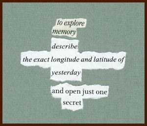 found poem © j.i. kleinberg ~ explore