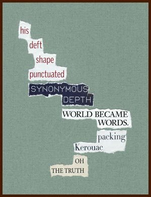 found poem © j.i. kleinberg ~ his deft shape