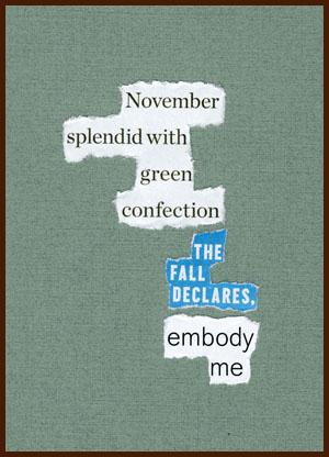 found poem © j.i. kleinberg ~ November