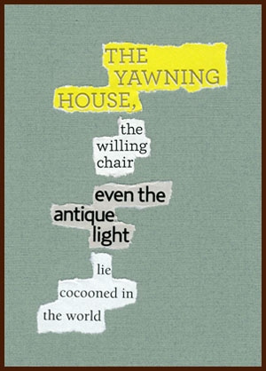 found poem © j.i. kleinberg ~ THE YAWNING