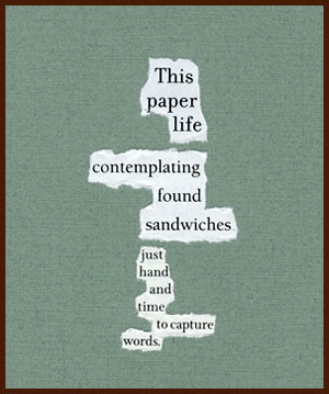 found poem © j.i. kleinberg ~ This paper