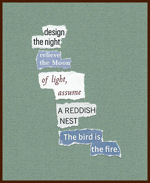 found poem © j.i. kleinberg ~ design