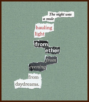 found poem © j.i. kleinberg ~ The night