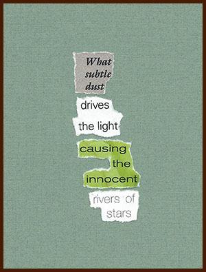 found poem © j.i. kleinberg ~ What