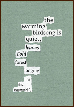 found poem © j.i. kleinberg ~ the warming