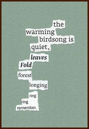 found poem © j.i. kleinberg ~ the warming