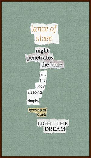 found poem © j.i. kleinberg ~ lance