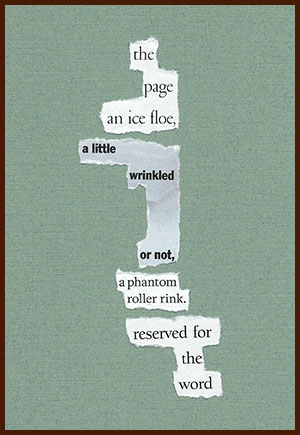 found poem © j.i. kleinberg ~ the page