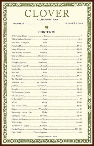 Clover: A Literary Rag, Volume 9