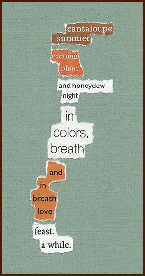 found poem © j.i. kleinberg ~ cantaloupe
