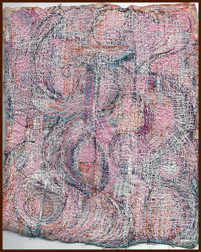 DAK pink stitched piece, undated