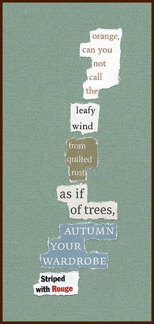 found poem © j.i. kleinberg ~ orange