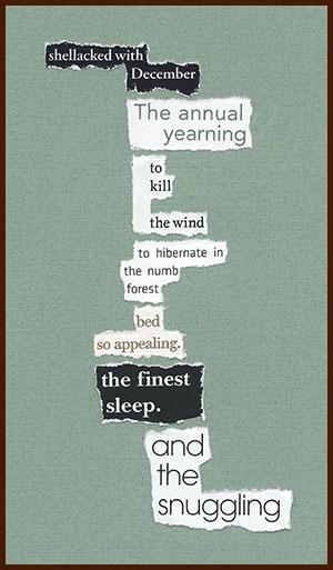 found poem © j.i. kleinberg ~ shellacked