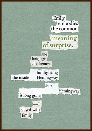 found poem © j.i. kleinberg ~ Emily