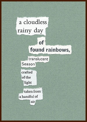 found poem © j.i. kleinberg ~ a cloudless