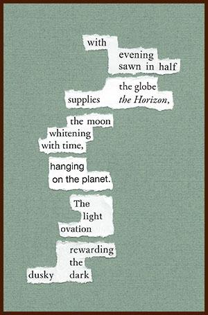 found poem © j.i. kleinberg ~ with evening
