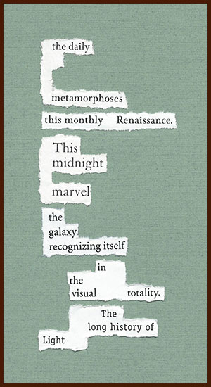 found poem © j.i. kleinberg ~ the daily