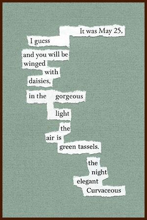 found poem © j.i. kleinberg ~ It was May 25