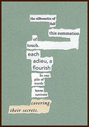 found poem © j.i. kleinberg ~ the silhouette