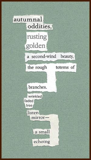 found poem © j.i. kleinberg ~ autumnal