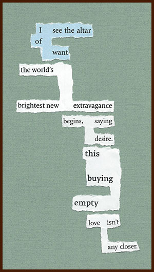 found poem © j.i. kleinberg ~ I see