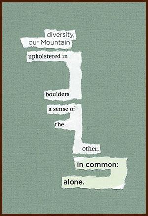 found poem © j.i. kleinberg ~ diversity
